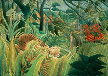 Rousseau, Henri: Tiger in a Tropical Storm. Fine Art Print/Poster. Sizes: A4/A3/A2/A1 (001227)